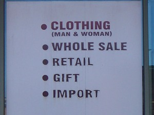 Whole sale? Import singular?