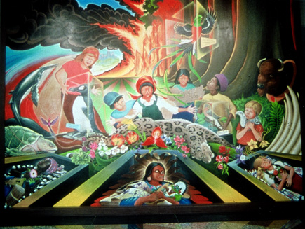 Denver airport conspiracy grasscity forums for Denver mural conspiracy