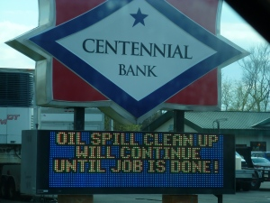 Centennial Bank sign